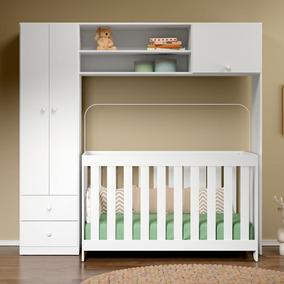 Guarda-roupa De Bebê 2 Portas 2 Gavetas Com Modulo Aéreo