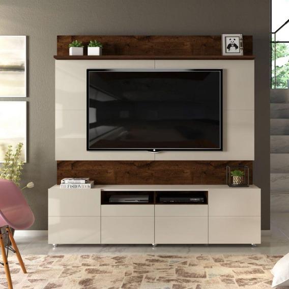 Estante Home Painel Com Rack Para Tv Até 65 Sala 4 Portas