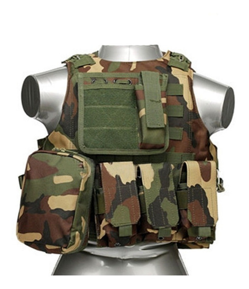 Chaleco Táctico Militar Airsoft Paintball Jungle Camouflage