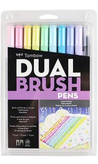 Marcadores Colores Pastel Doble Punta 10pz Tombow Dual Brush
