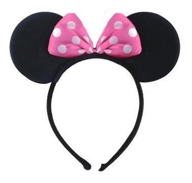 Orejas De Minnie Cintillos Para Fiesta Minnie Mouse Cotillon