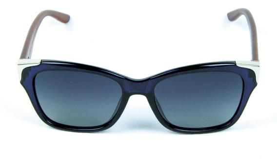 Óculos De Sol Polarizado Zabo Barcelona Azul Lente Preta