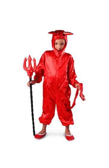Disfraz De Diablo Para Niño - Niña Talla 2 A La 12