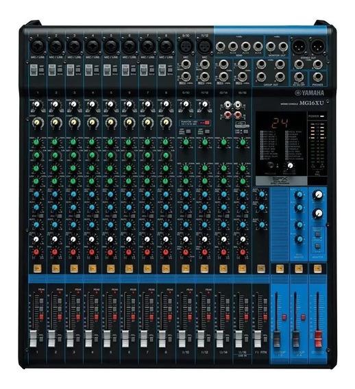 Mesa De Som Yamaha Mg16xu 16 Canais C/ Efeito E Usb
