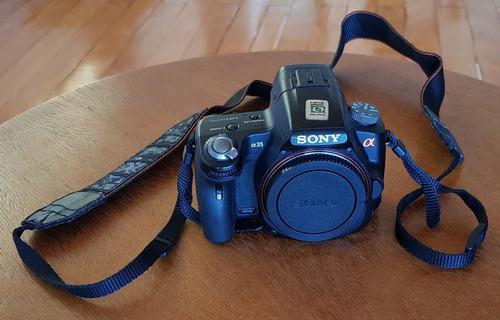 Câmera Sony Alpha A35 Com Defeito Lente Case Carregador