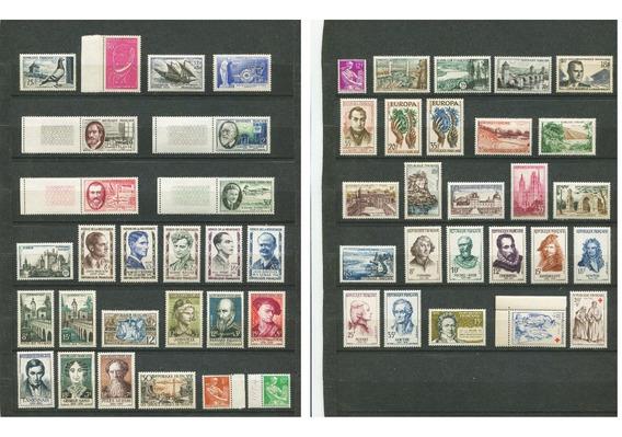 Sellos Francia Año 1957 Completo Yvert 1091-1141 Mnh