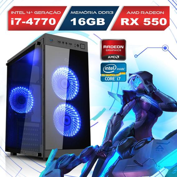 Computador Alfatec Gamer Intel Core I7 16gb 1tb Rx 550