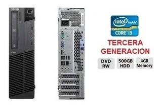 Cpu Core I3 3era. Gen. Ram 4 Gb Hdd 500 Gb