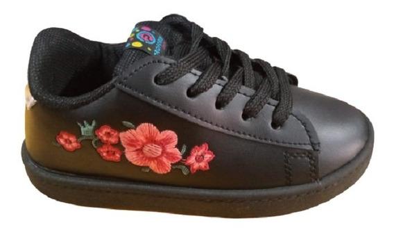 Zapatillas De Nena Ecocuero Bordada