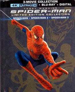 Spider-man Trilogia Digibook Pelicula 4k Ultra Hd + Blu-ray