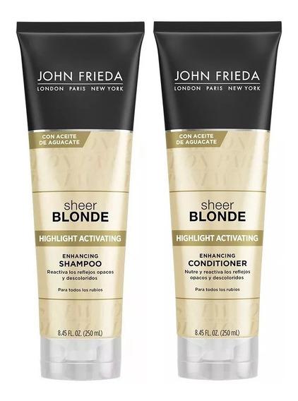 Shampoo + Acondicionador John Frieda Sheer Blonde Highlight