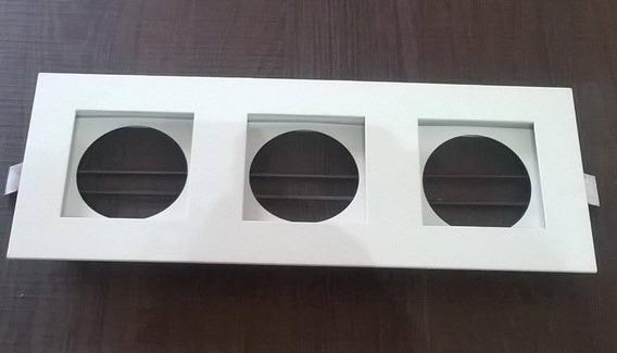 Embutido Built Branco Com Fundo Branco Triplo Alumínio Mr16