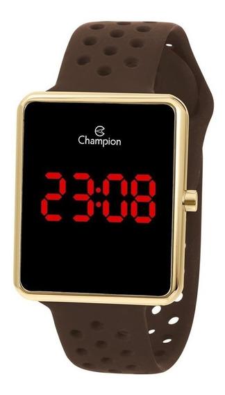 Relógio Champion Masculino Digital Dourado E Marrom Ch40081u