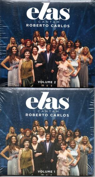 Cd Roberto Carlos - Elas Cantam Vc 1 E Cd 2