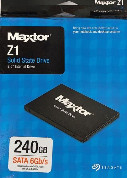 Hd Ssd 2.5 Seagate Maxtor Z1 240gb Nota Fiscal