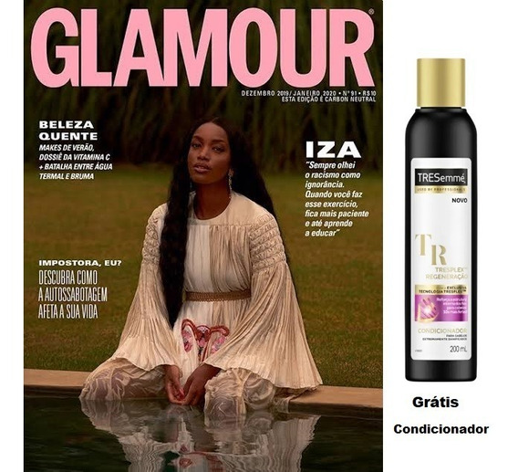 Revista Glamour Ed 91 Dezembro/janeiro/2020 Grátis Brinde
