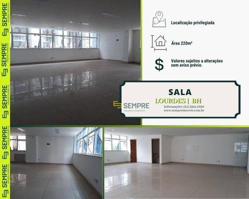 Imagem 1 de 14 de Sala Para Alugar, 220 M² E 04 Vagas - Lourdes - Belo Horizonte/mg - Sa0001
