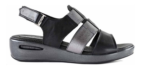 Sandalias Cuero Mujer Cavatini Camara Zapato Ancha Mcsd04780