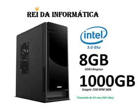 Imperdível!!! Pc Intel 3.0ghz 8gb Ddr3 1tb Hd 1 Ano Garantia