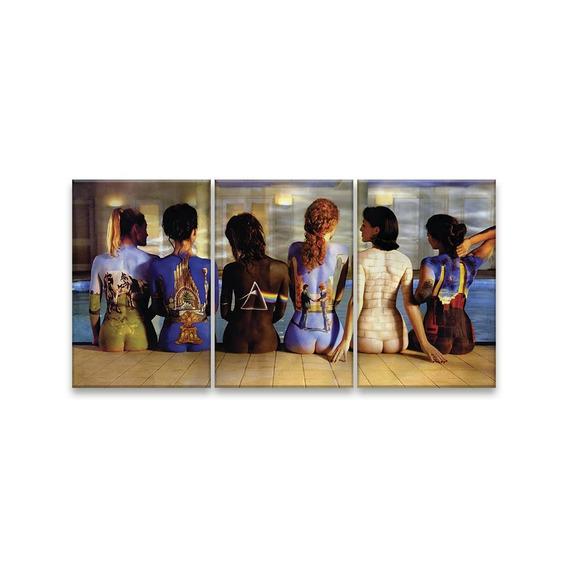 Quadro Decorativo 122x60 Sala Pink Floyd Álbuns Arte Coporal