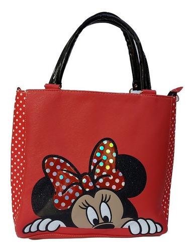 Imagen 1 de 7 de Bolsa De Mano Para Dama De Disney, Minnie Mouse En Rojo
