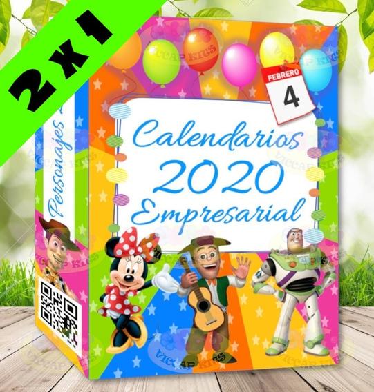 Kit Imprimible Calendarios 2020 Editables Personajes Nuevos