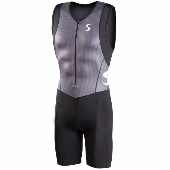 Chaleco Synergy Triathlon Trisuit Neogel Gris Negro Medium