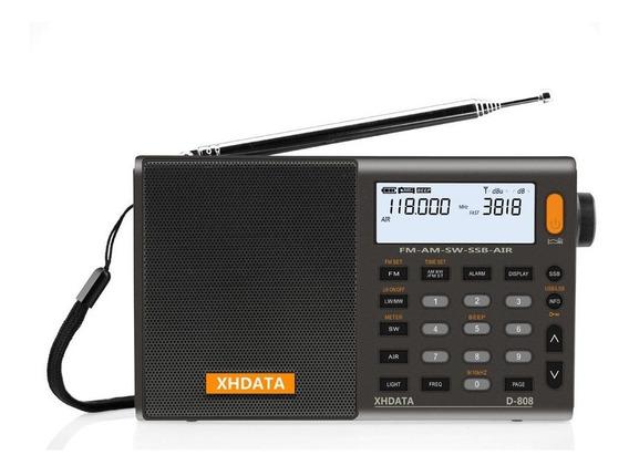Rádio Xhdata D-808 Am/fm Stéreo/lw/sw/ssb Banda Aérea. Novo