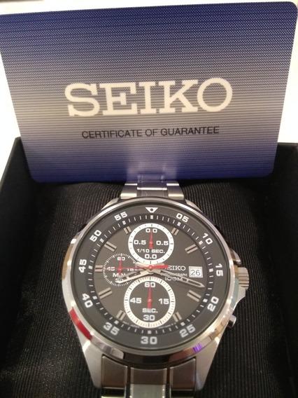 Relógio Seiko Cronógrafo Sks671b1 Em Aço Inoxidável, Lindo