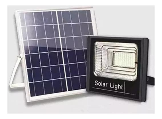 Refletor Holofote Led Solar 25w Real Placa Completo