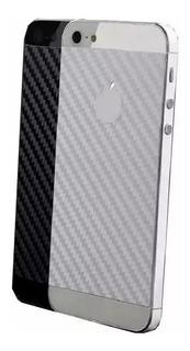 Película Traseira Fibra De Carbono iPhone 5 6 7 8 X