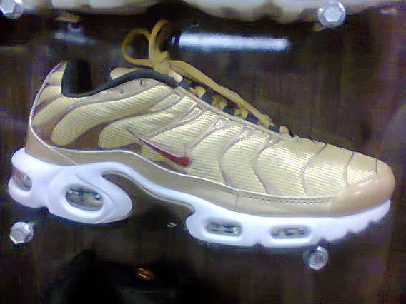 Tenis Nike Air Max Tn Plus Dourado Nº38 Ao 43 Original