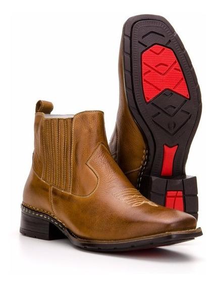 Botina Bota Country Masculina Texana Couro Capelli Boots