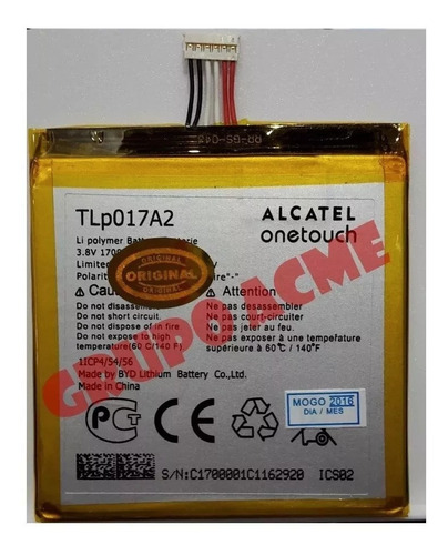 Batería Alcatel Idol Mini 6012 6012a 6016 6036 6015 Chacao