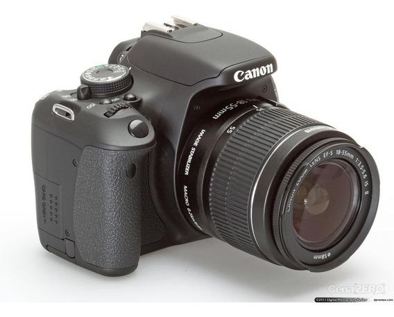 Câmera Canon T3i + Lente 18-55mm + 2 Baterias + Carregador