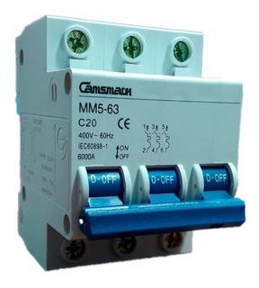 Breaker Magnetotermico 3x20 Mm5-63 Camsmark Interruptor