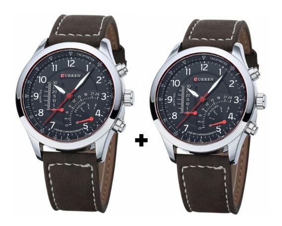 Kit Com 02 Relógios Curren 8152 - Oferta