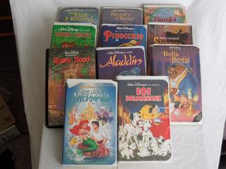 11 Peliculas Disney Black Diamond Vhs Vintage