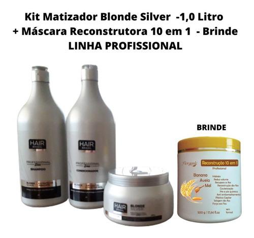 Imagem 1 de 3 de Matizador Blonde Kit L. Profissional + Brinde Reconstrutora
