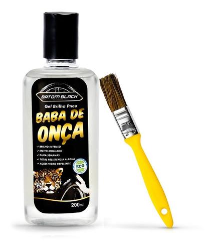 Pretinho Em Gel Baba De Onça 200ml Batom Black + Pincel