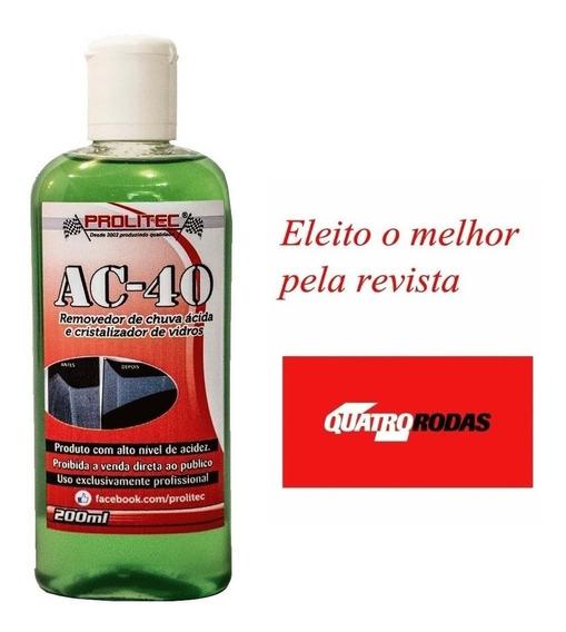 Prolitec Ac 40 Removedor De Chuva Acida Parabrisa Box Vidros