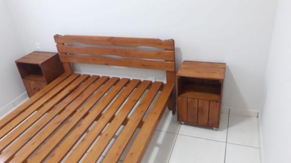Cama Casal Padrão Com Cabeceira Penafort 138x188x35
