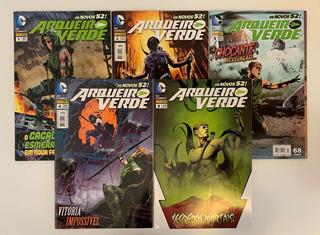 5 Hqs Arqueiro Verde Os Novos 52! Volumes 1 Ao 5 Panini Novo