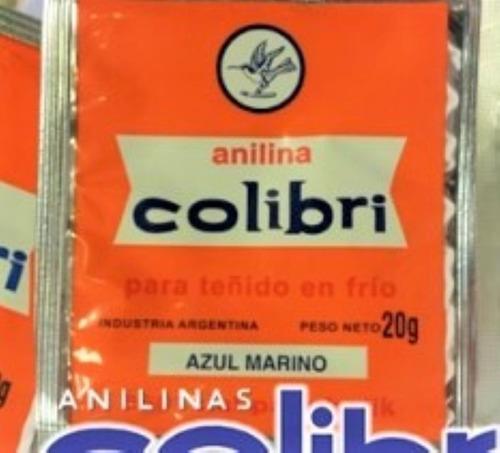 Anilina Colibri Para Algodón Pack 2 Sobres Azul Marino