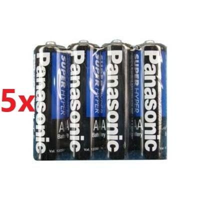 Kit Combo 20 Pilhas Panasonic Pequena Super Hiper 2aa Oferta