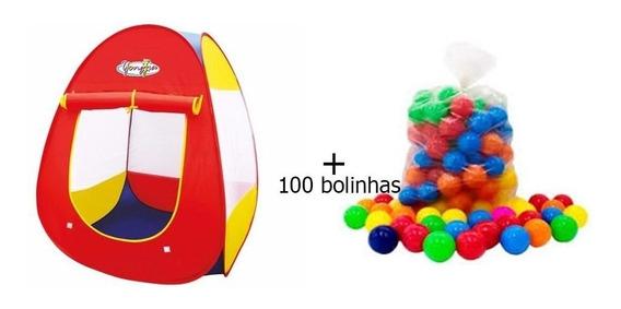 Barraca Toca Infantil Pronta Entrega+ 100 Bolinhas 76mm