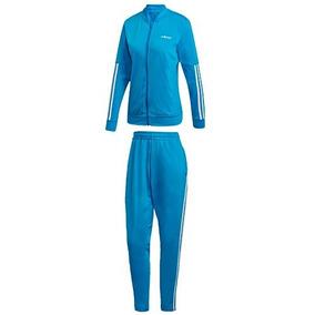 Conjunto adidas Wts Back2bas Dv2430 Azul Blanco Dama Pv