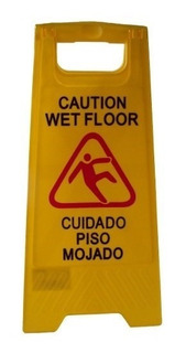 Cartel Piso Mojado 62x30cms Pvc Wet Floor Consorcios Locales