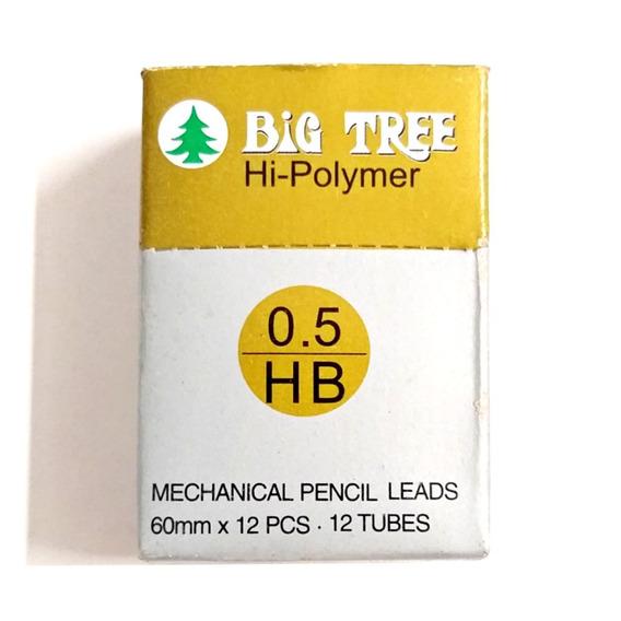 Grafite Big Tree Cis 0.5mm Hb Caixa Com 12 Tubos