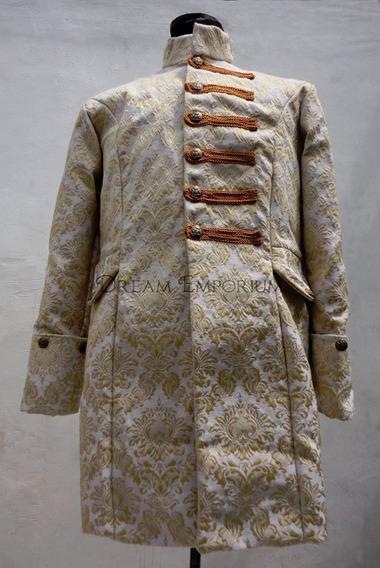 Saco Gotico Victoriano En Brocato De Diseño A Medida
